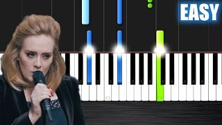 Adele - When We Were Young - EASY Piano Tutorial