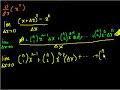 Proof: d/dx(x^n) Video Tutorial