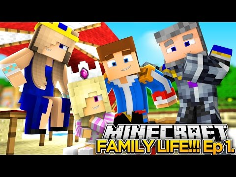 MINECRAFT FAMILY LIFE!! (EP.1) - LITTLE DONNY'S FAMILY VACATION!!!