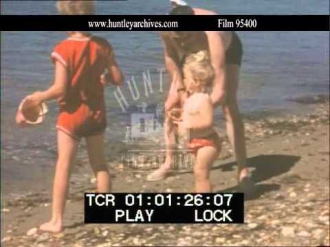 Jack Hawkins With His Children.  Archive Film 95400