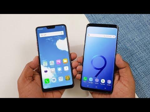 Oppo F7 Vs Samsung Galaxy S9+ Speed Test | Mid Range Vs Flagship !