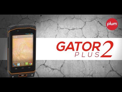 Plum Gator Plus 2 - Rugged Unlocked Android Smart Phone IP-68 Certified Water / Shock / Dust Proof