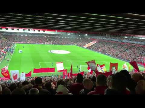 Liverpool Vs Bayern Allez Allez Allez From The Kop And Kenny Dalglish Stand #LIVBAY