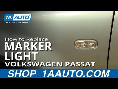 How To Install Replace Fender Marker Light Volkswagen Passat 02-04 1AAuto.com