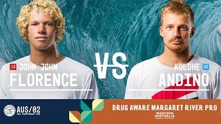 In the Final, John John Florence battles Kolohe Andino at the 2017 Drug Aware Margaret River Pro. Subscribe to the WSL for...