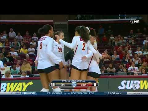 Oregon State at USC - NCAA Women's Volleyball (Oct 19th 2014)