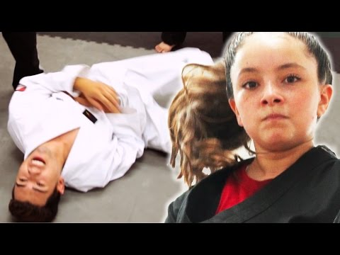 Black Belt Kid Vs. White Belt Adults