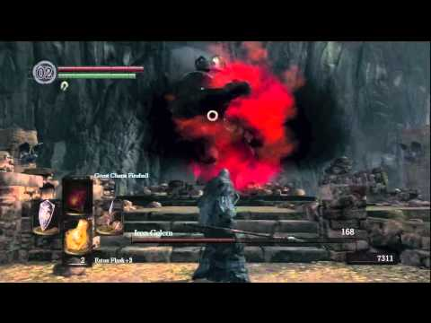 Dark Souls  Iron Golem Of Sen's Fortress Boss Guide Walkthrough