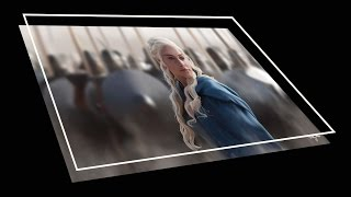 Digital drawing of Daenerys Targaryen from the HBO series Game of Thrones. Music by Ross Bugden.