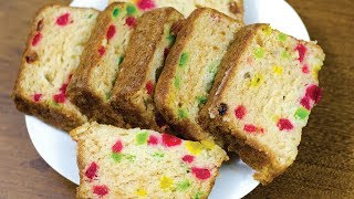 There are many cake recipes but this one is really awesome, easy & great. Know how to make 100% EGGLESS TUTTI FRUTTI...