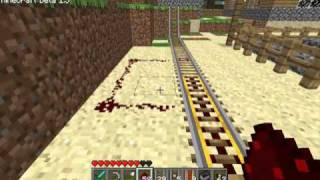 Minecraft beta 1.5 Powered/Detector Rails!