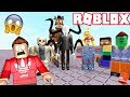 ESCAPE THE EVIL KILLERS FROM ROBLOX AREA 51! (Roblox RedHatter)