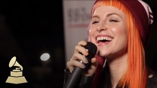 Live performance of Paramore's new single, Still Into You | GRAMMYs