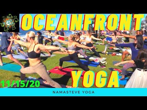 Easy Like Sunday Morning Oceanfront Yoga   Namasteve Yoga   Basic Power Yoga