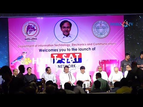 , Minister KTR Launches T-Sat Network in Hyderabad