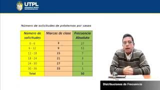 UTPL DISTRIBUCIONES DE FRECUENCIA [(ÁREA ADMINISTRATIVA)(ESTADÍSTICA I)]