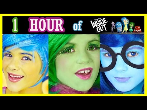 1 HOUR INSIDE OUT Makeup Tutorials, Challenges, Vlogs Compilation! Disney Pixar | KITTIESMAMA