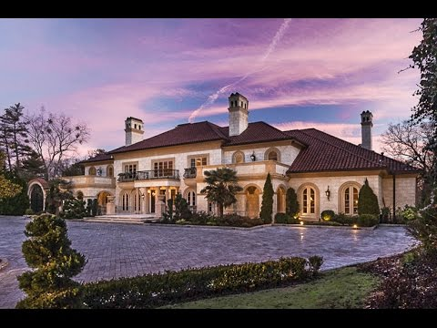 mansion videos - 25 Million Dollar Mediterranean Estate in Atlanta Georgia- 490 West Paces Ferry MTV Cribs Video Link: http://www.mtv.com/videos/teen-cribs-season-1-ep-1-jame...