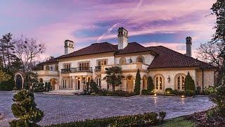 25 MILLION DOLLAR MEDITERRANEAN ESTATE - Luxury Mansion Tour in Atlanta Georgia