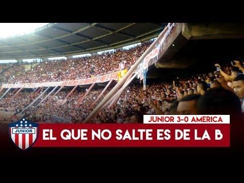 El que no salte es de la B | Junior 3-0 America, Frente Rojiblanco Sur - Frente Rojiblanco Sur - Junior de Barranquilla