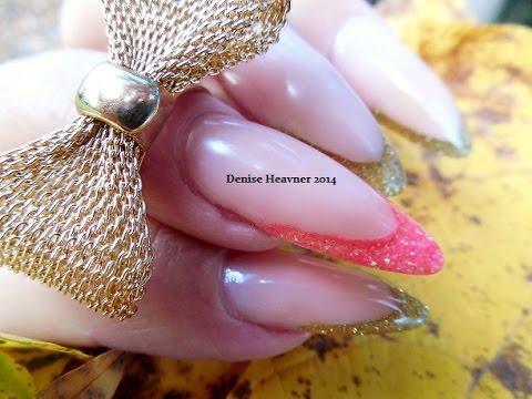 nail art - mandorla con scintillio