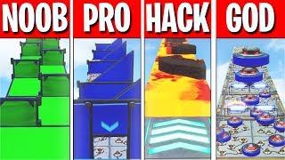 NOOB vs PRO vs HACKER vs GOD Parkour Course! (Fortnite Creative)