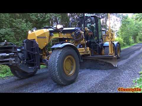 4K| MB Arocs, Volvo FMX 500 & CAT 140M3 Working On A Gravel Road