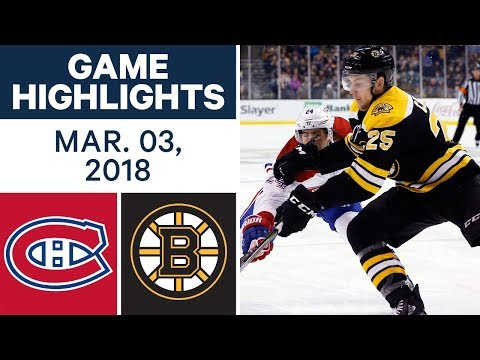 Video: NHL Game Highlights | Canadiens vs. Bruins - Mar. 03, 2018