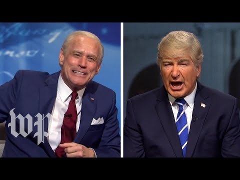 SNL Recap   Jim Carrey, Alec Baldwin put SNL spin on Trump and Biden's simultaneous town hall events