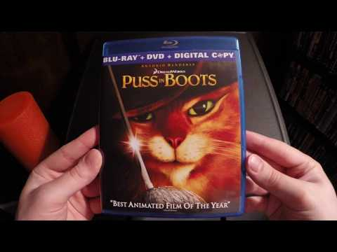 Puss In Boots Blu-Ray Unboxing