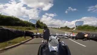 3. Honda Shadow VT 750 Black Widow / Spirit Vance&Hines Straightshots exhaust sound
