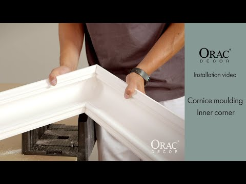 How To Install The Inner Corner of Cornice Mouldings - Orac Decor® Installation Video