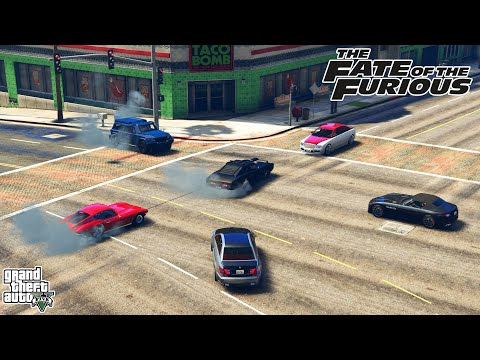 GTA V - FAST AND FURIOUS 8 - Harpooning Dom's Car Scene