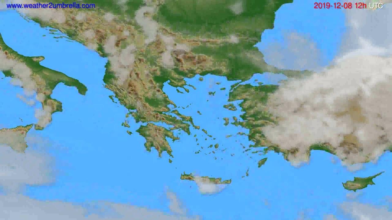 Cloud forecast Greece // modelrun: 12h UTC 2019-12-07