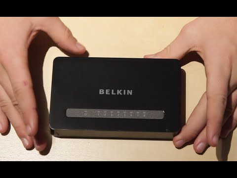 Unboxing & Overview: Belkin 10/100 ethernet switch