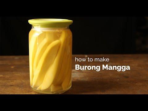 How to Make Burong Mangga (Pickled Green Mangoes) |  Yummy Ph