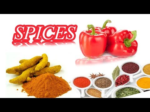 Spices Names In English With Pictures -kids Vocabulary