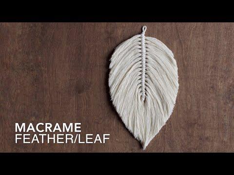 DIY Macrame Tutorial: How To Make A Large Macrame Feather/Leaf