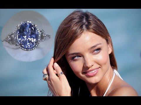 Miranda Kerr Tanzanite & Diamond Cocktail 14kt Gold Ring $11,550 eBay Auction