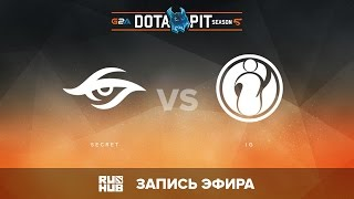 Secret vs iG, Dota Pit S5 LAN, Нижняя сетка, 2 Раунд [v1lat, Maelstorm]