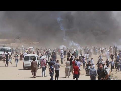 Erneut Palästinenser bei Zusammenstößen an Gaza-Gre ...