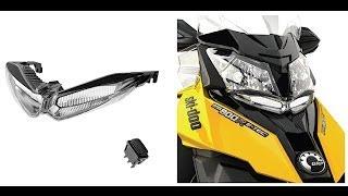 10. Ski-Doo Auxilary LED Headlight Install on 2014
