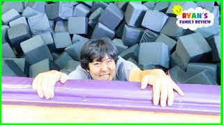 Parkour Trampoline Indoor Playground with Ryan's Mommy and Daddy!