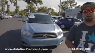 Autoline Preowned 2008 Toyota Highlander For Sale Used Walk Around Review Test Drive Jacksonville