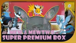 Most Epic Pokemon Super Premium Collection Mew & Mewtwo Box Opening on Youtube!? by Papa Blastoise