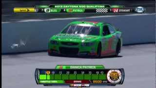 Danica Patrick Qualifies In Pole Position For The 2013 Daytona 500