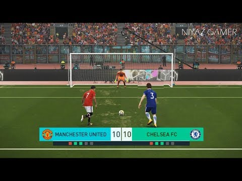 MANCHESTER UNITED vs CHELSEA FC | Penalty Shootout | PES 2018 Gameplay PC