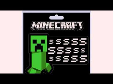 Video New  video for the Minecraft Creeper Ssssss Sticker