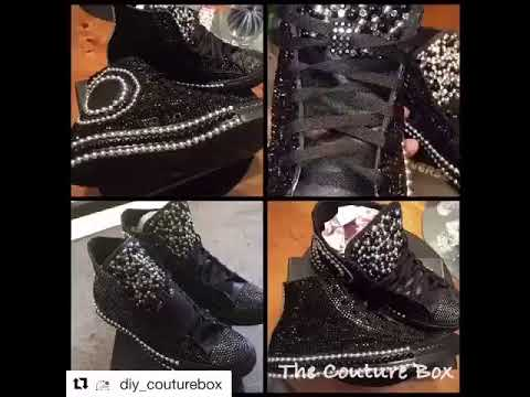 DIY BLACK ON BLACK BLING CONVERSE