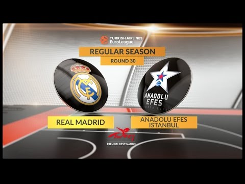 EuroLeague Highlights RS Round 30: Real Madrid 97-80 Anadolu Efes Istanbul